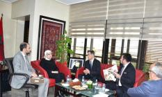 """استقبلت وزيرة التضامن والتنمية الاجتماعية والمساواة والأُسْرَة السيدة جميلة المصلي، مساء اليوم الجمعة بمقر الوزارة السيد """"تاكوجي هاناتي""""سفير دولة اليابان المعتمد لدى المملكة المغربية"""
