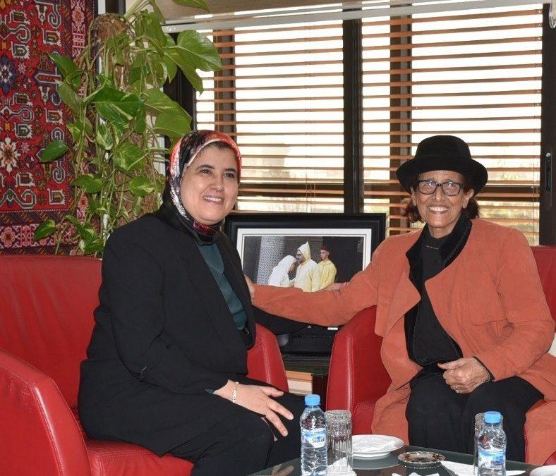 2 يناير 2020 السيدة الوزيرة تستقبل السيدة ثريا جبران الفنانة المغربية الكبيرة والوزيرة السابقة للثقافة