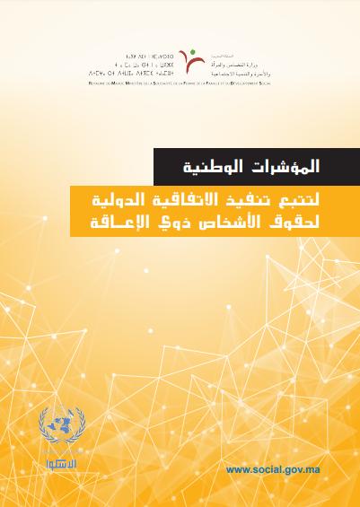 المؤشرات الوطنية لإعمال الاتفاقية الدولية لحقوق الأشخاص ذوي الإعاقة – 2016