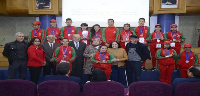 المصلي تكرم أبطالا في رياضة الأشخاص في وضعية إعاقة رفعوا راية المغرب خفاقة في محافل وملتقيات دولية وقارية