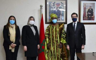 السيدة جميلة المصلي تستقبل ممثلة برنامج الأمم المتحدة للتغذية بالمغرب