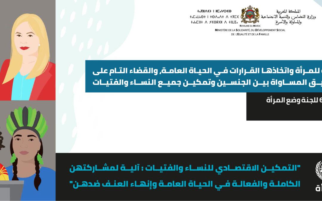 تقرير المملكة المغربية ،الدورة 65 للجنة وضع المرأة -مارس 2021