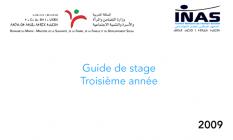 Guide de stage d'application : 3ème année / date de parution : 2009