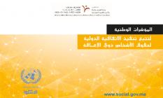 Indicateurs nationaux pour la mise en œuvre de la Convention internationale relative aux droits des personnes handicapées -2016