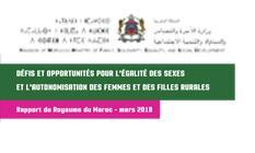 Défis et opportunités pour l'égalité des sexes et l'autonomisation des femmes et des filles dans milieu rural (Rapport du Royaume du Maroc 2018)